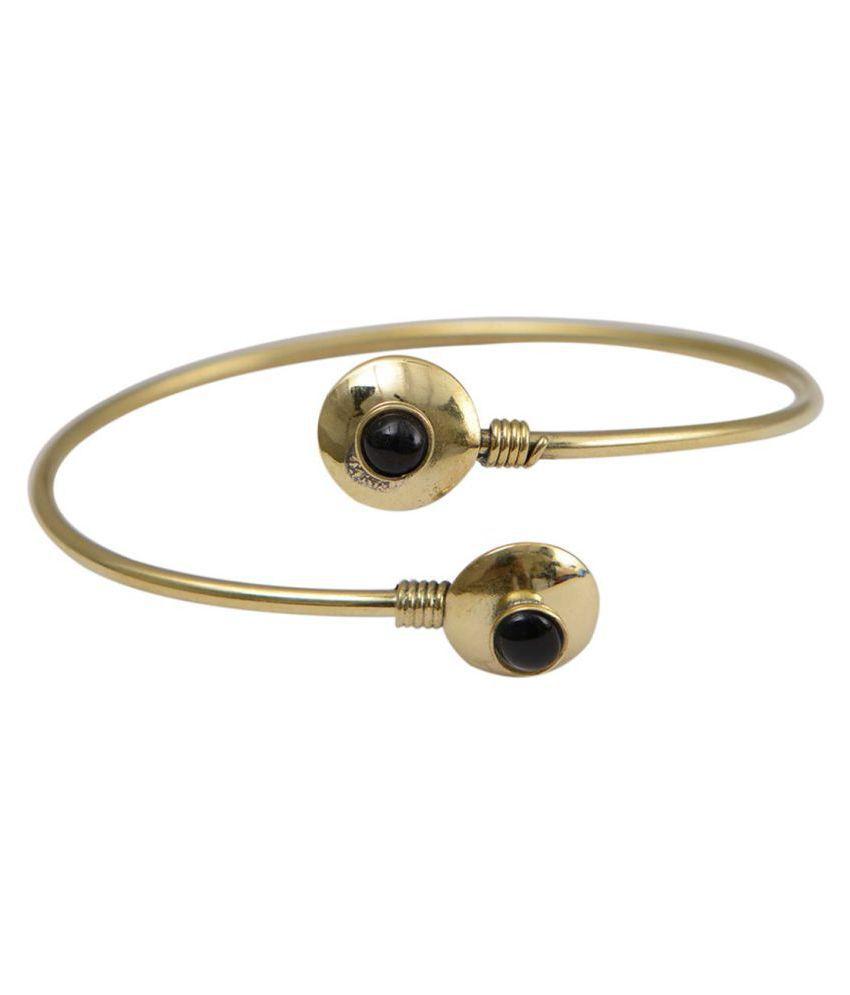 Taj Pearl Designer Brass oxidized Cuff Bangles