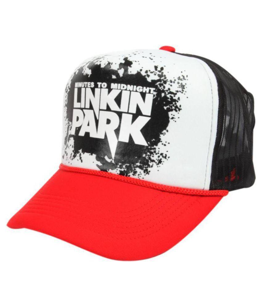 23869b21c218a ... Linkin Park Red Colour Half Net Cap