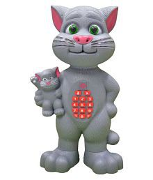 Mimicry Talking Tom Cat With Baby, Touch Functions, Interactive Toy With Mobile Type Pad\n