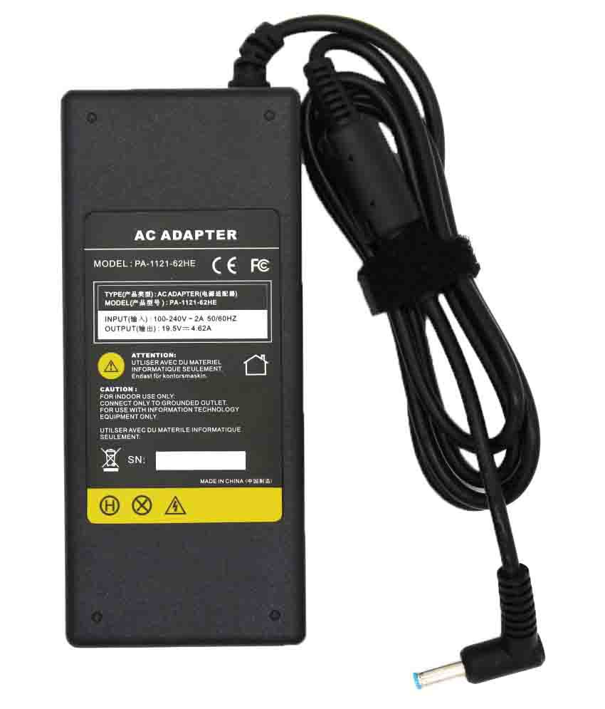 4D Laptop adapter compatible For HP Blue Pin