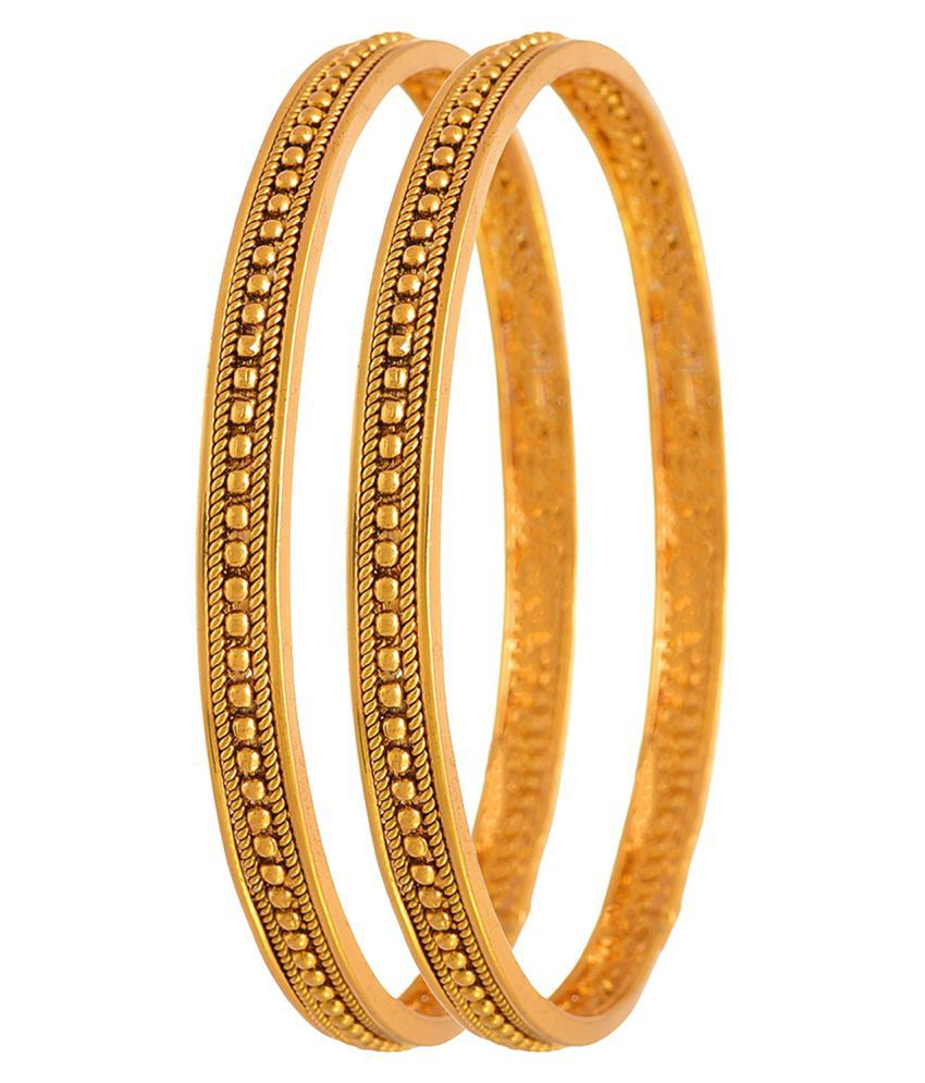 JFL - Traditional Ethnic One Gram Gold Plated Bead Designer ...