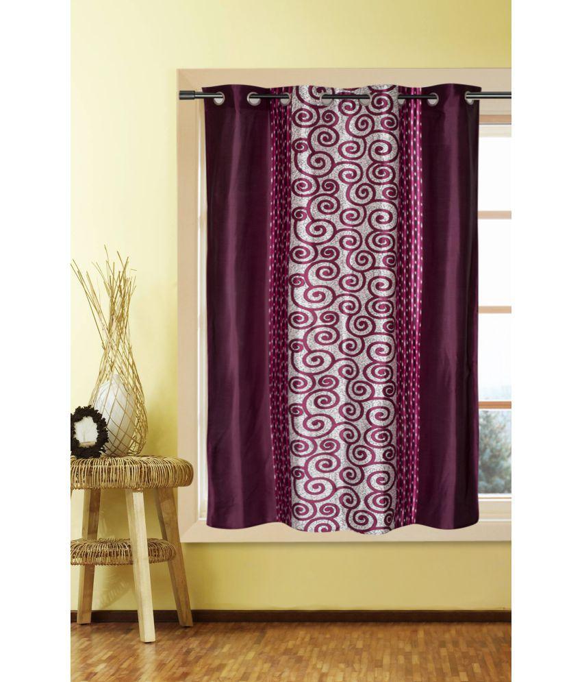 Kalaa Single Window Eyelet Curtains Abstract Purple Snapdeal Rs. 349.00