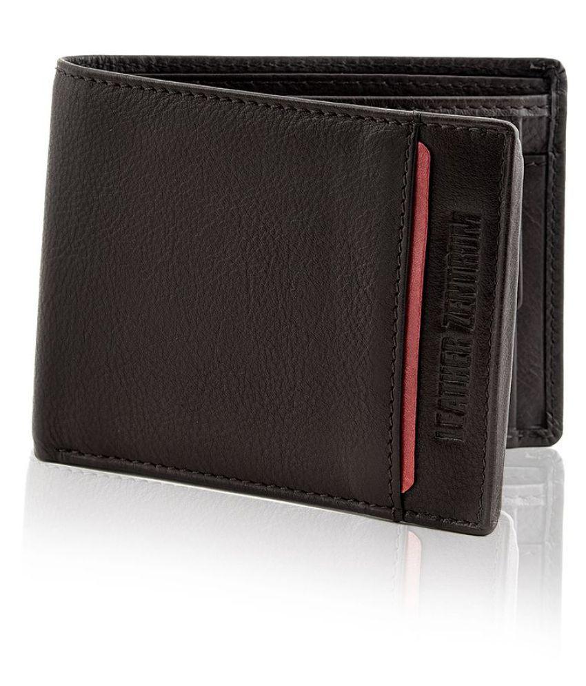Leather Zentrum Leather Brown Fashion Regular Wallet
