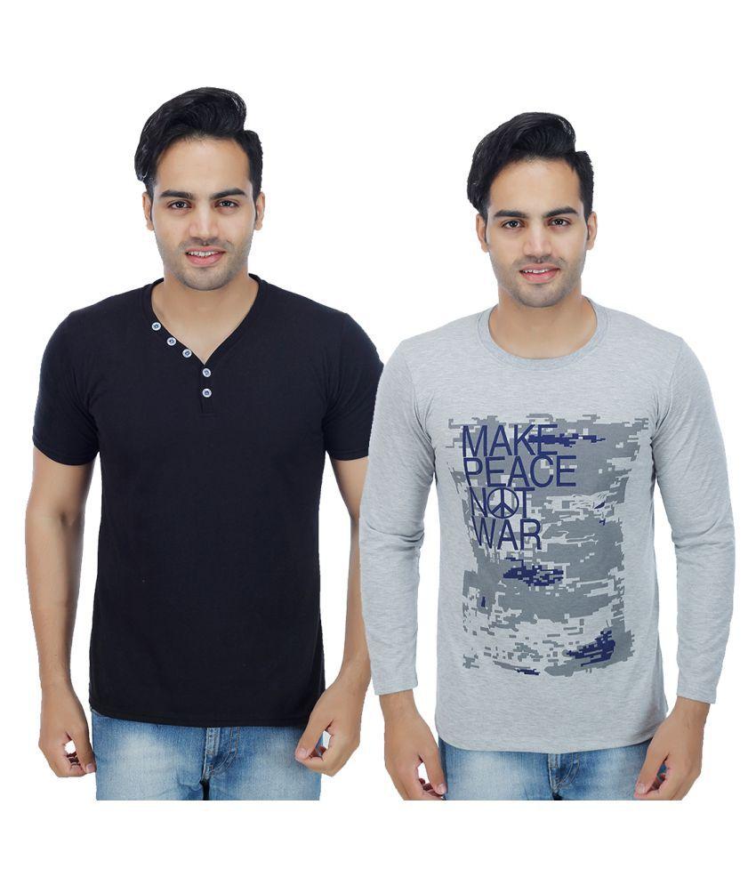 Rakshita's Collection Multi V-Neck T-Shirt
