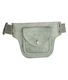 JL Collections Multi-functional waist Belt Leather Green Waist Pouch