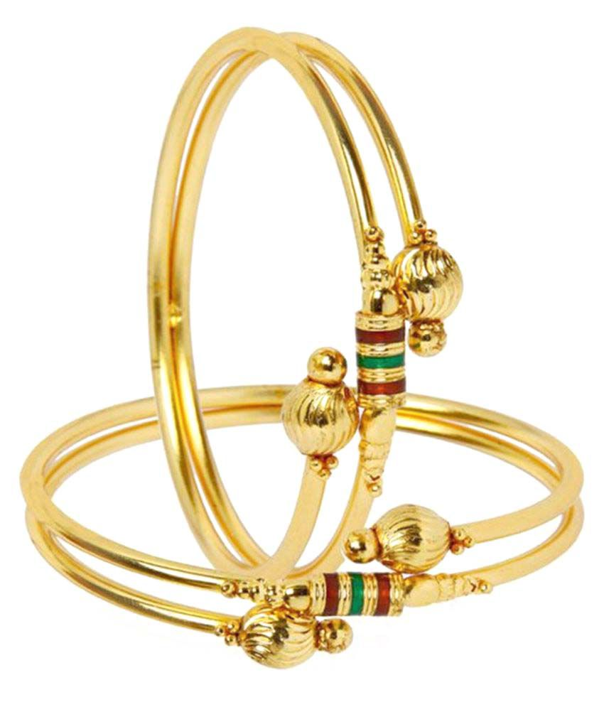 Archi Collection Stylish One Gram Gold Plated Designer Bangles for ...