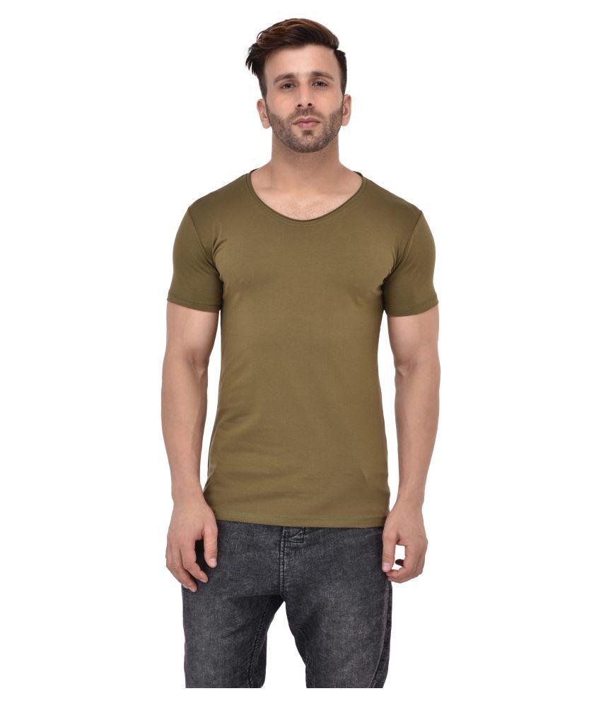 Tinted Green Round T-Shirt