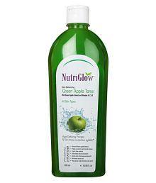 Nutriglow Skin Balancing Green Apple Toner With Vitamin A,C & E Skin Tonic 500 Ml Pack Of 2