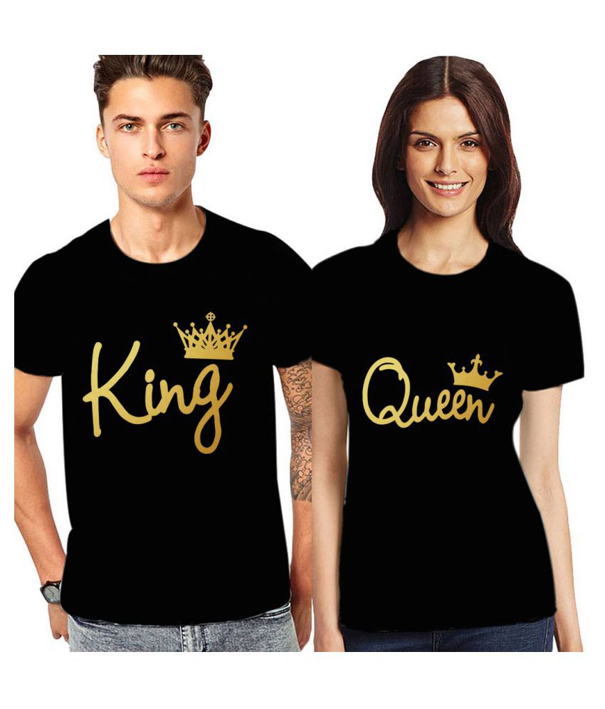 9aa1076ca5 Stubborne Black Cotton Couple Combo - Buy Stubborne Black Cotton Couple  Combo Online at Best Prices in India on Snapdeal