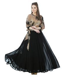 Just Wow Poly Georgette Gown
