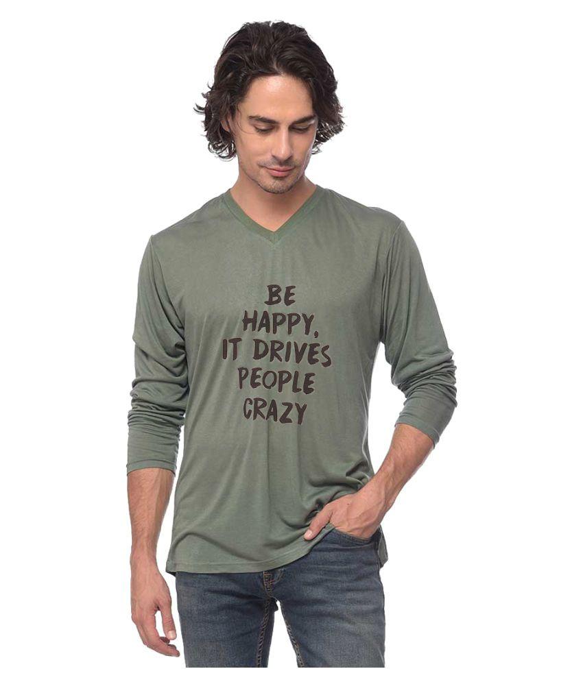 Yoloclan Green V-Neck T-Shirt