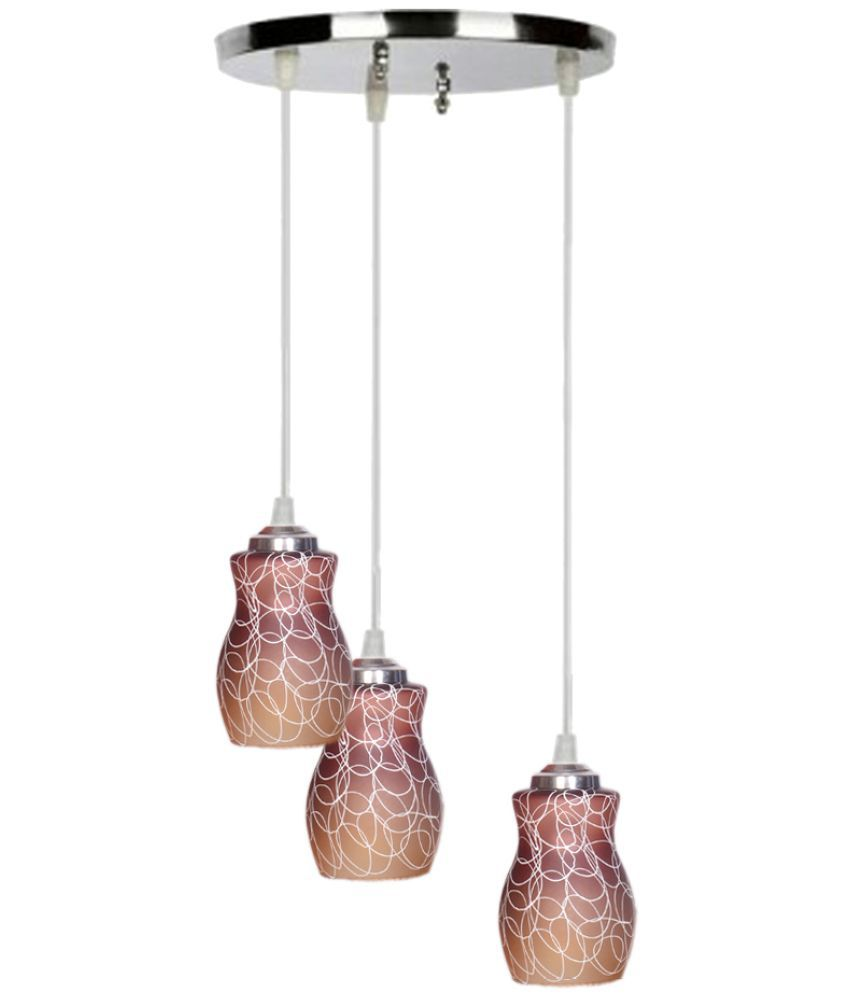Somil Glass Exclusive Pendant Brown - Pack of 1