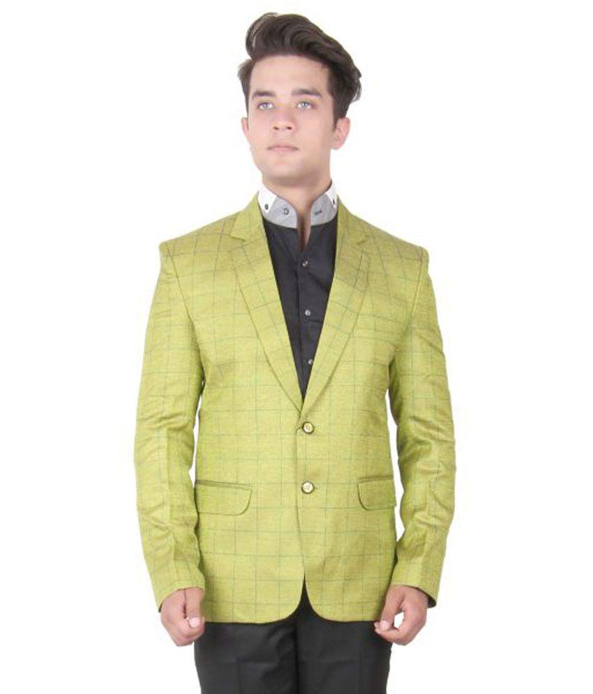 La Rainbow Green Checks Party Blazers