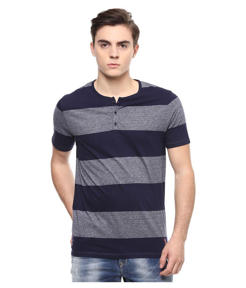 Spykar Multi Henley T-Shirt