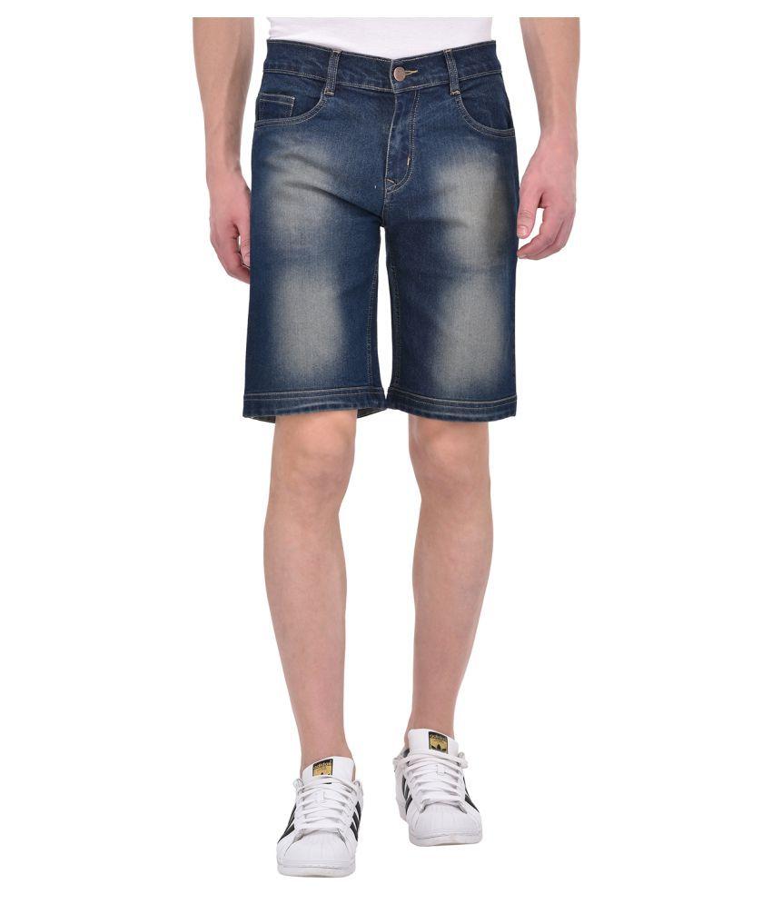 Ansh Fashion Wear Blue Shorts