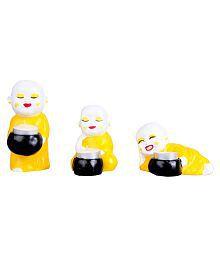 Kavya Home Decor Multicolour Table Top Terracotta Tea Light Holder - Pack Of 3