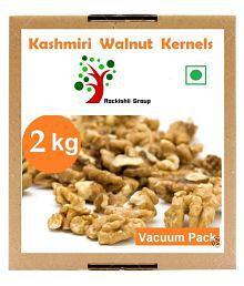 Rockishii Kashmiri Shelled Walnuts (Akhrot) Premium 2 Kg Pack Of 8