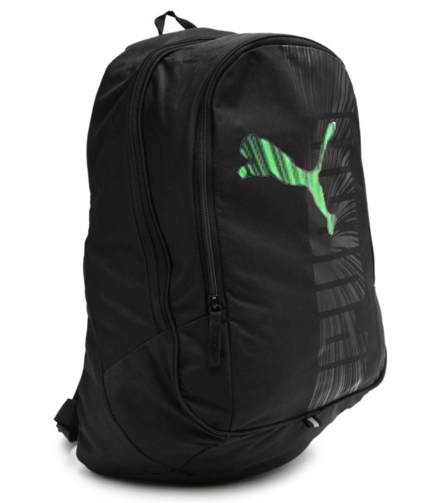 ... Puma Bag Puma Backpack College Bag College Backpack School Backpack  School Bag- Black Green Graphic ... a751cb4037c36