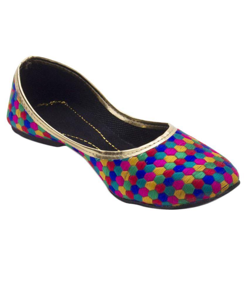 Jaipuri Shop Multi Color Flat Ethnic Footwear