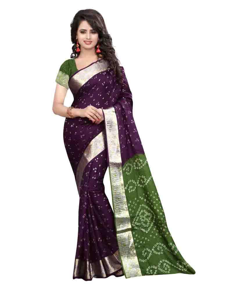 Nilkanth Enterprise Purple Art Silk Saree
