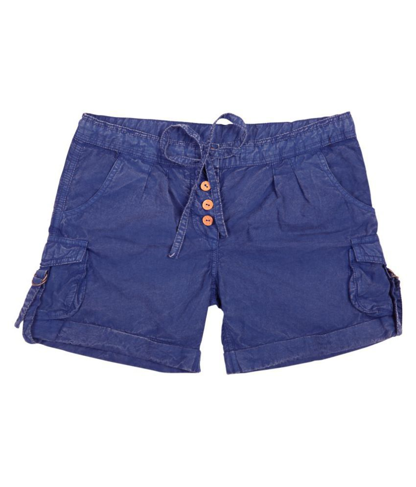 Holy Brats Garment dyed blue shorts