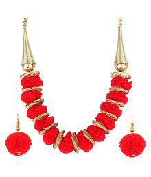Penny Jewels Artificial Latest Designer Non-Precious Stylish Necklace Set For Women & Girls