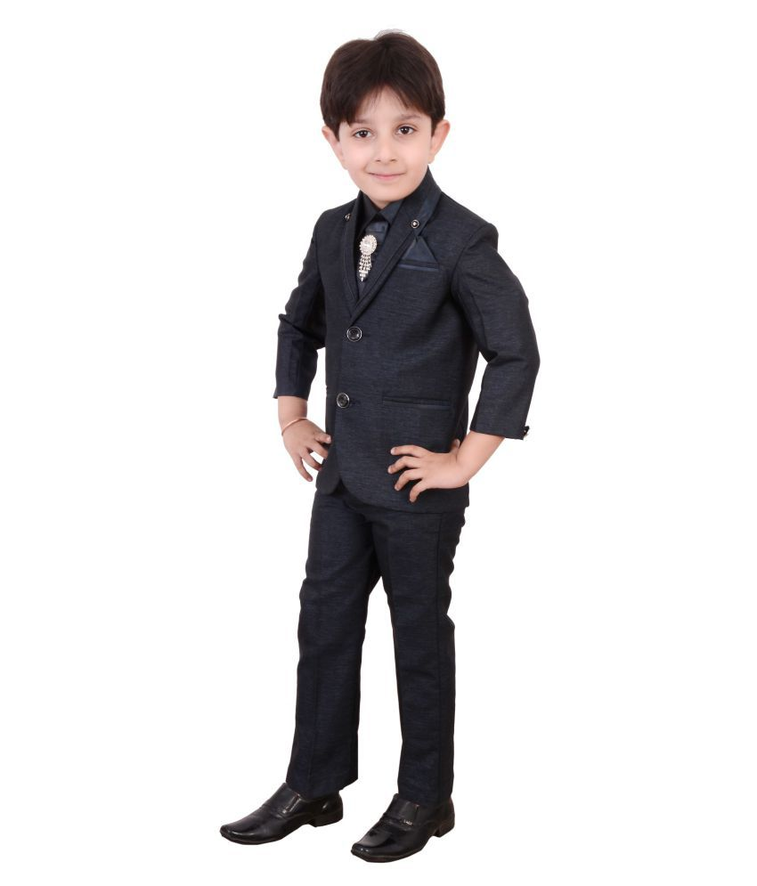 8eca25aae Boys Coat Suit with Shirt Pant and Tie Kids Wear by Arshia Fashions ...