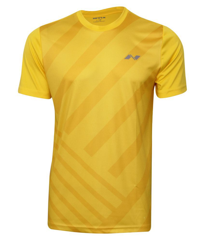 NIVIA CITY ROUND SUBLIMATION TEE SB-1( LEMON YELLOW)