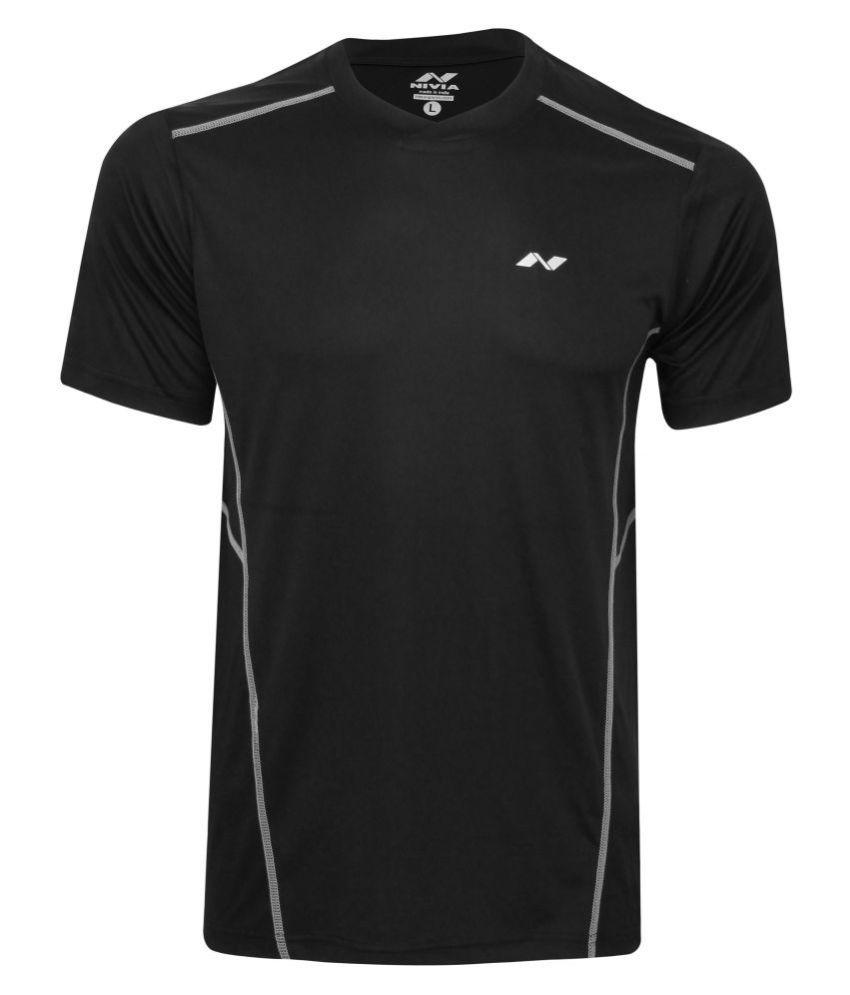 Nivia Oxy-1 Fitness Tee Black-2213-xs2