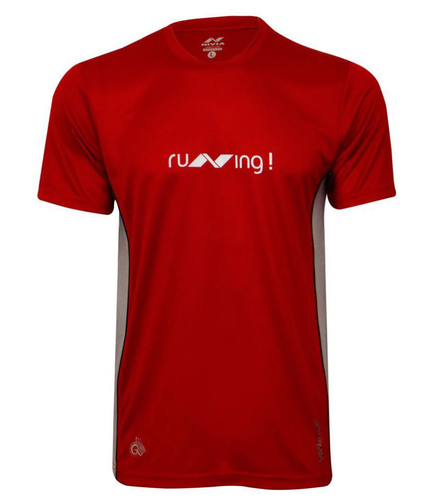 NIVIA OXY -2 FITNESS TEE ( Red)