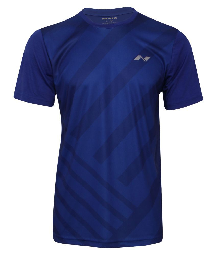 Nivia City Round Sublimation Tee Sb-1 Peacock Blue-2352-xxl4