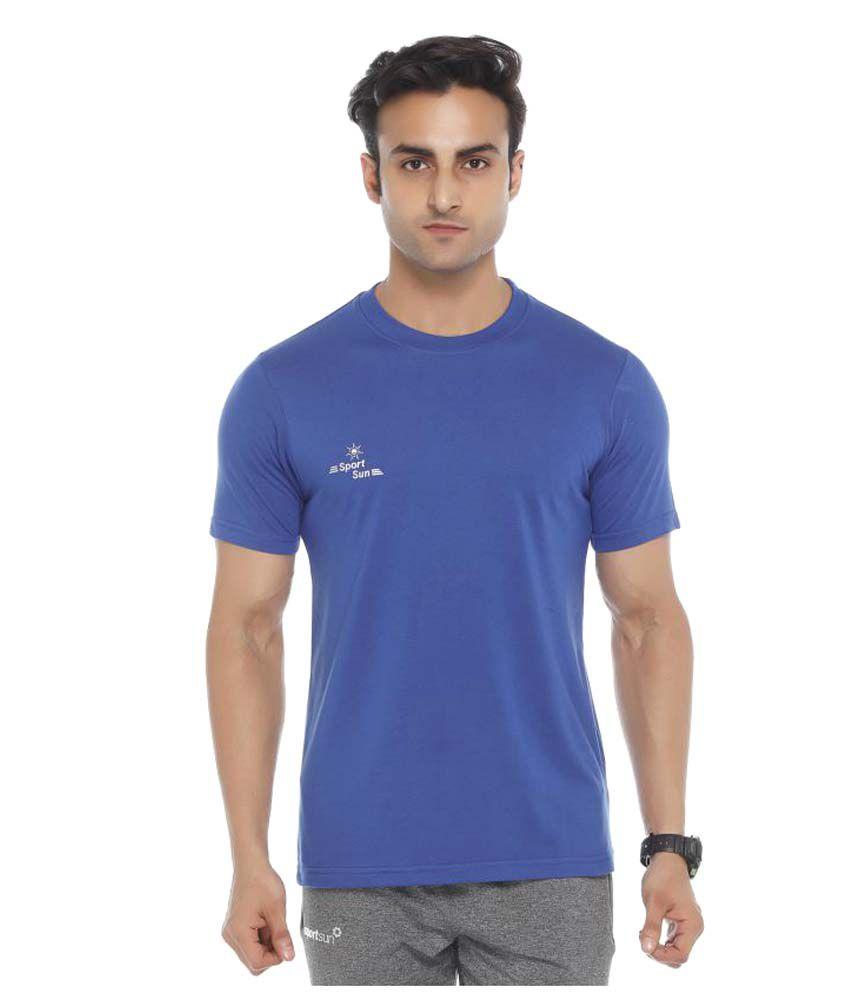 Sport Sun Blue Round T-Shirt