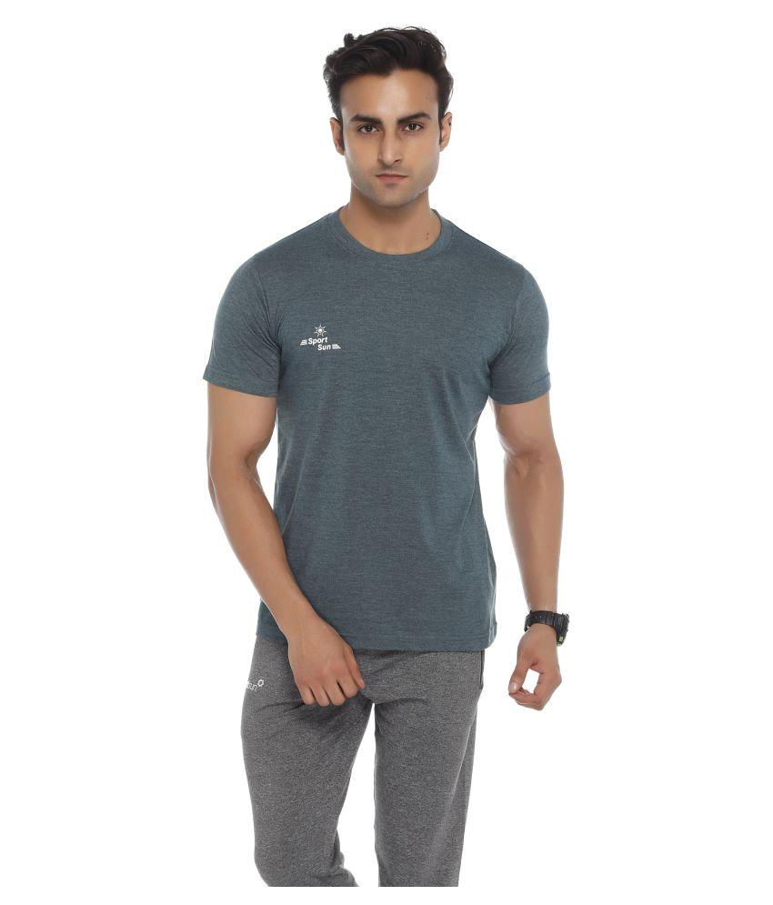 Sport Sun Grey Round T-Shirt
