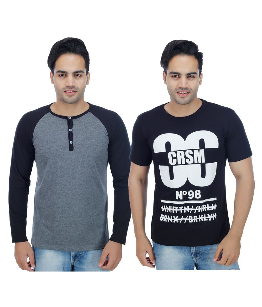 Candy House Multi Henley T-Shirt Pack of 2