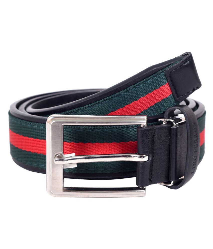 Lino Perros Green Rubber Casual Belts