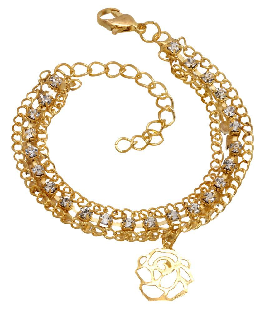 sanaya collection golden bracelet for girls and women