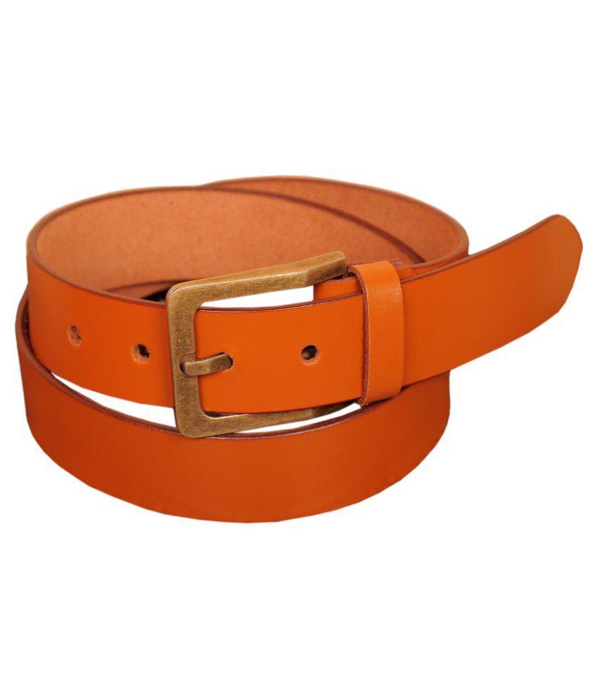 Naysa Tan Leather Formal Belts