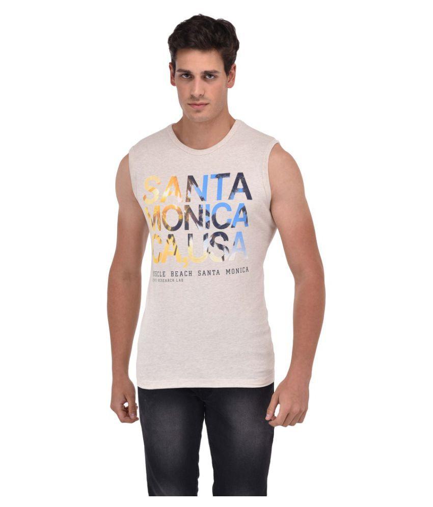 Octave Beige Round T-Shirt