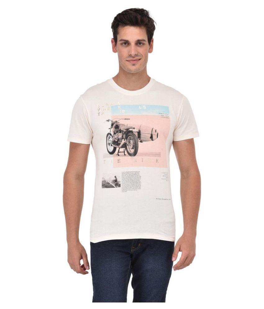 Octave White Round T-Shirt