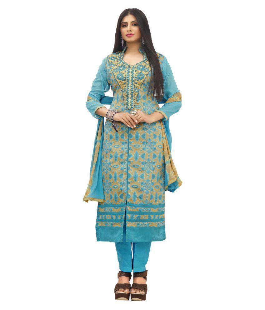 Shivanya Fashion Multicoloured Jacquard Dress Material