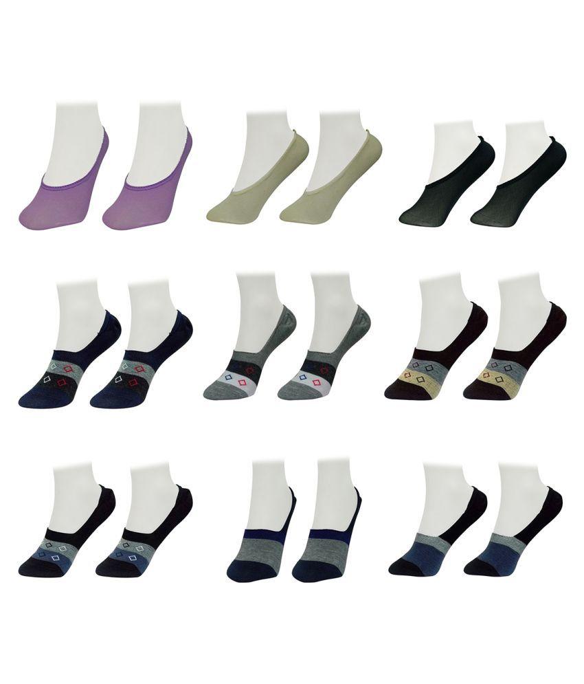 Gold Dust Latest Fancy Loafer Socks (9 Pair)