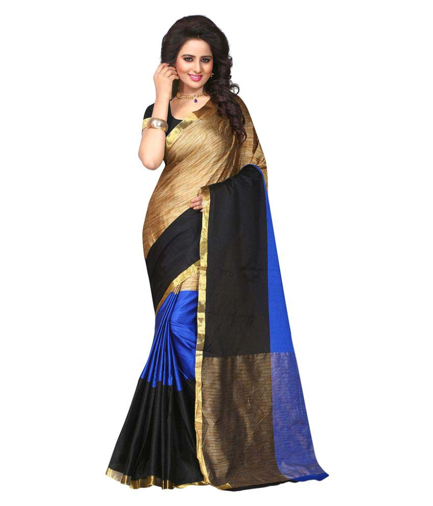Visach Multicoloured Cotton Silk Saree