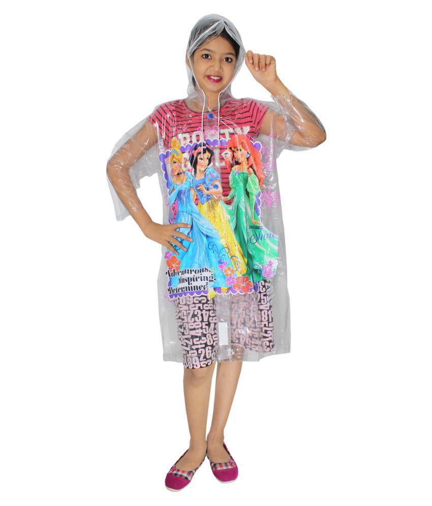 Goodluck Unisex Disney Princess Print  Full Sleeve Raincoat