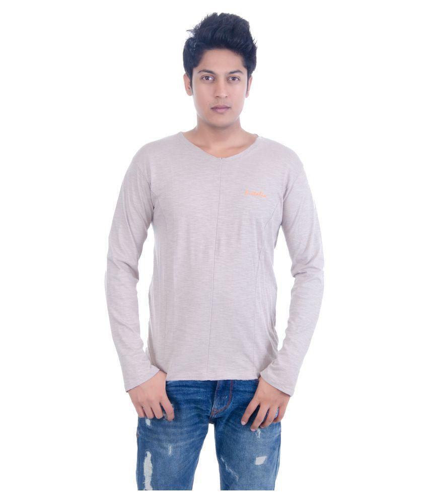 Grey Booze Grey Henley T-Shirt