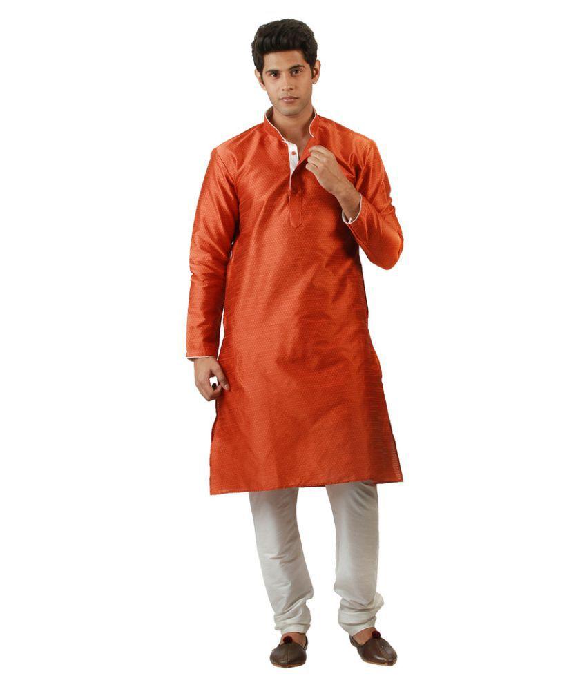 Amora Multi Silk Blend Kurta Pyjama Set