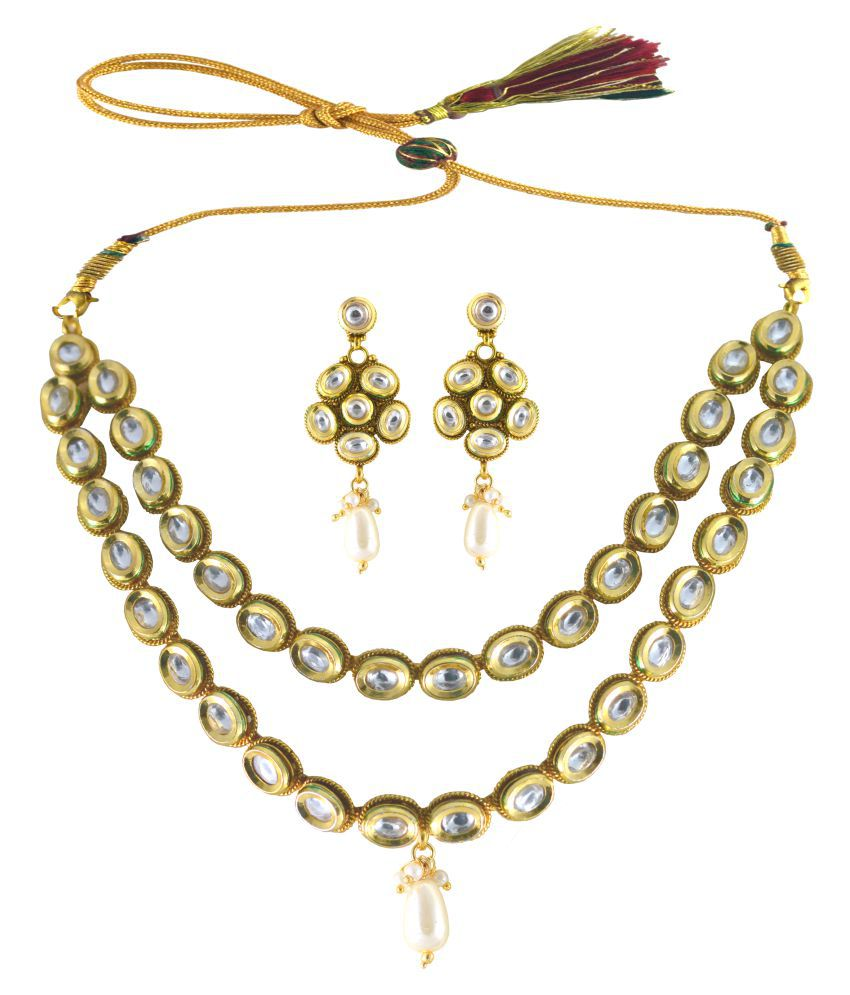 Unique Antique Kundan Necklace set with multi Strings
