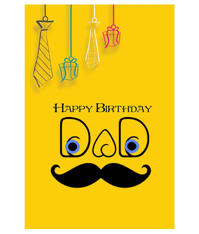 Happy Birthday Dad Poster: Buy Online At Best Price In