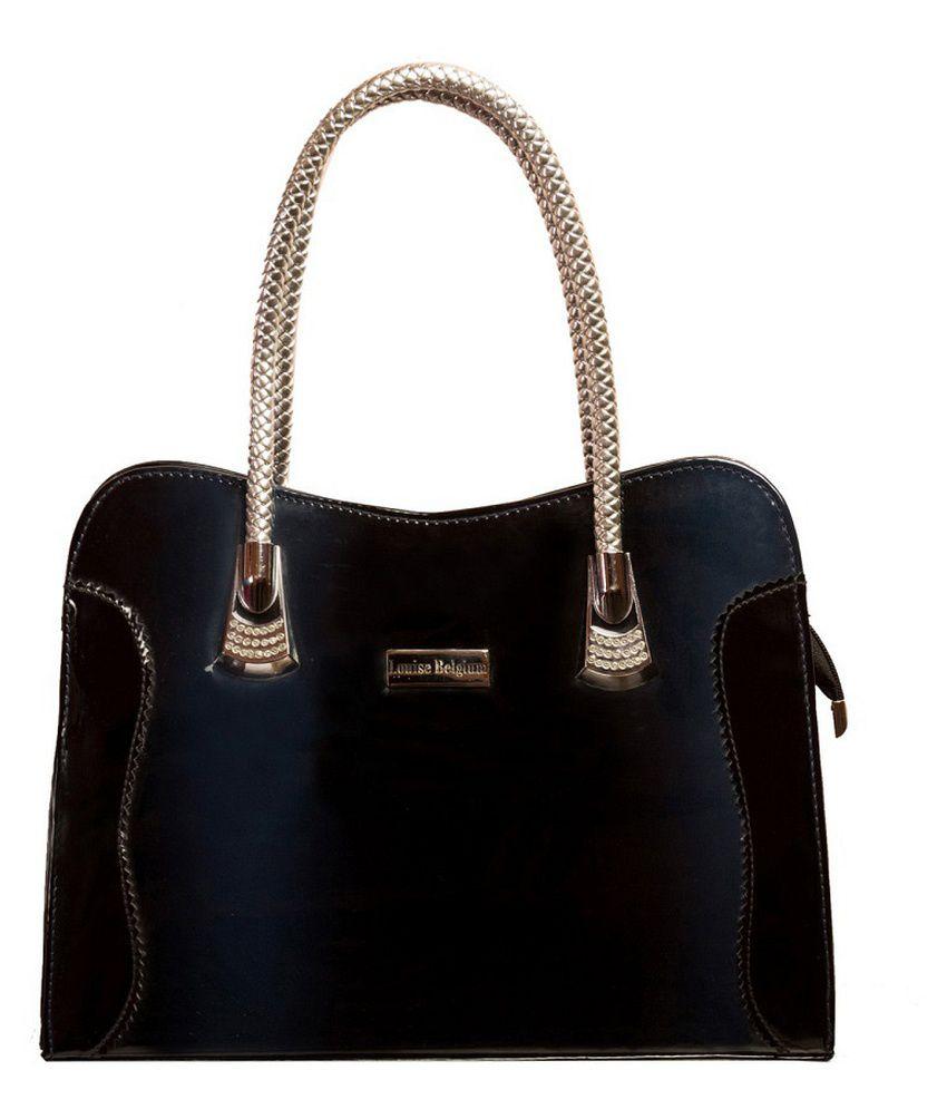 Louise Belgium Blue P.U. Shoulder Bag