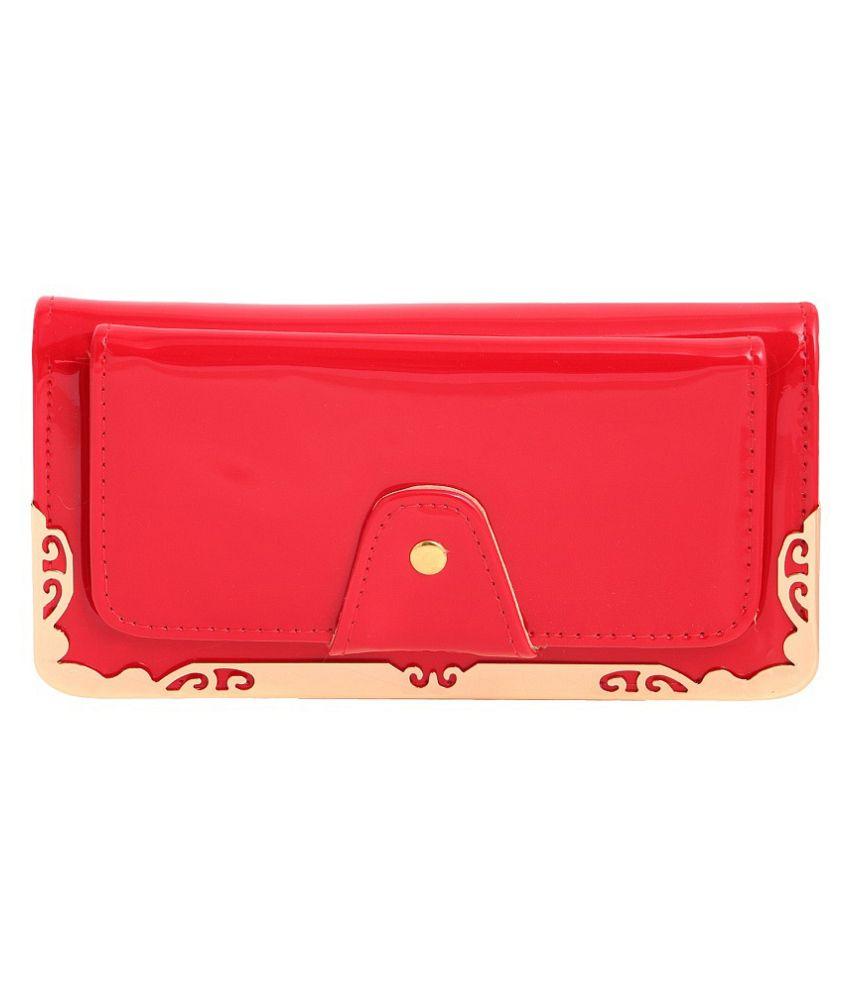 Louise Belgium Red Regular Wallet