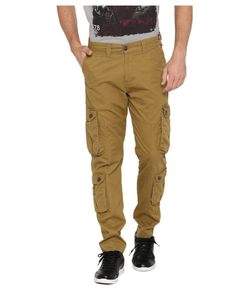 FIFTY TWO Brown Regular -Fit Flat Cargos